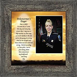 Policewoman's Prayer, Personalized Gifts Women Police Women, Gifts Cops, 10x10 6596BW