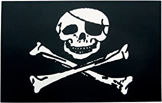 Pirate Flag Sticker - Jolly Roger Decal - 3 Pack