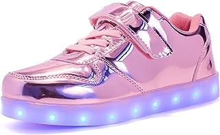 Kids Low-Top Led Light Up Shoes con Control Remoto Zapatos con Luces para Niños y Niñas
