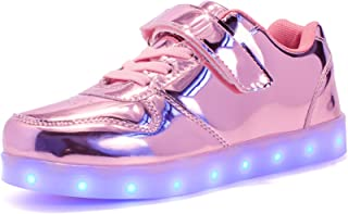 Kids LED Light Up Shoes Shiny Low-Top Sneakers for Boys and Girls Child Unisex
