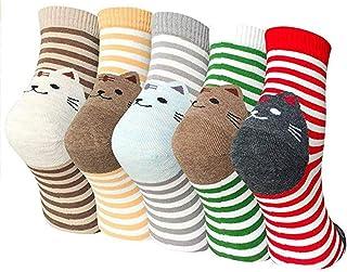 Lindo Calcetines de Dibujos Animados Calcetines de Animales de Moda Divertidos Cute Socks Calcetines de Algodón Calcetines Térmicos Suave Transpirable Calcetines para Niñas Mujer