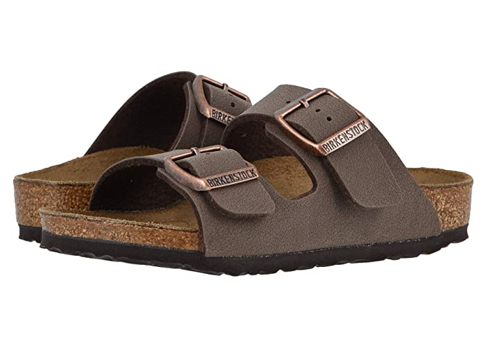 Birkenstock Kids  Arizona (Toddler/Little Kid/Big Kid) (Mocha Birkibuc) Girls Shoes