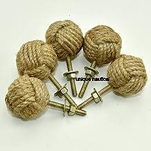 Jute touw deurknoppen/touwknoop lade trekt en knoppen, trek- en duwgreep knoppen voor kasten, kasten & kasten/nautisch har...