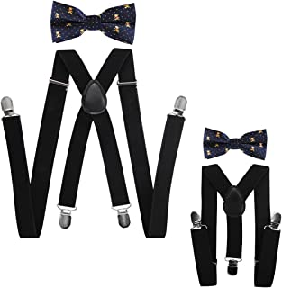 axy father-son matching braces with bow tie set for men//women//children customisable