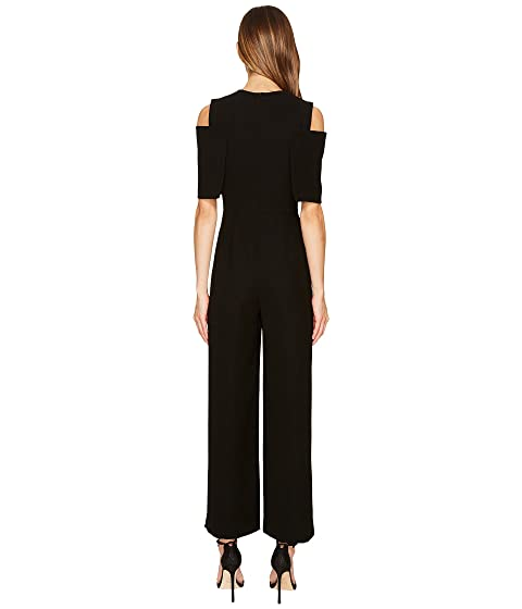 YIGAL Cold Shoulder Cape Jumpsuit Front AZROUËL anYBp