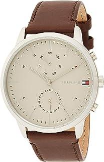 Tommy Hilfiger Reloj Analógico para Hombre de Cuarzo con Correa en Cuero 1710404