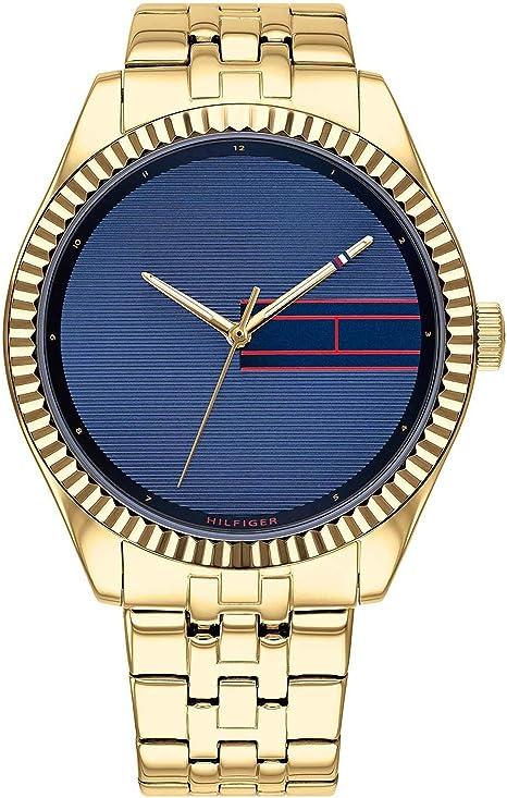 Tommy Hilfiger Reloj analógico de Cuarzo para Mujer Lee con Correa de Acero Inoxidable