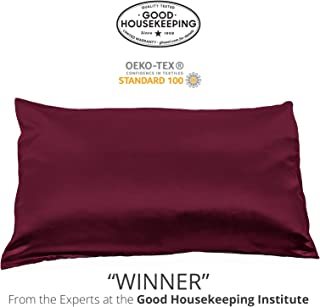 Fishers Finery 25mm 100% Pure Mulberry Silk Pillowcase Good Housekeeping Winner (Red, Queen)