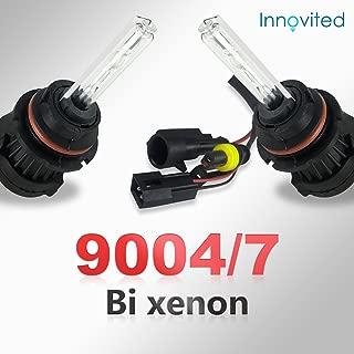 Innovited HID Xenon 9004 9007 6000K Bi xenon HI/LO HID Replacement Bulbs (1 Pair Diamond White) - 2 Year Warranty