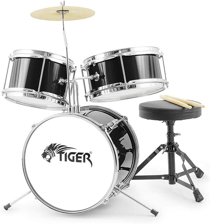 Set per percussioni per principianti, colore nero tiger jds7-bk