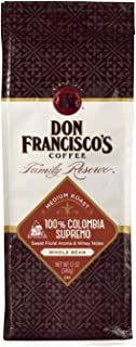 Don Francisco's Colombia Supremo Coffee, Whole Bean, 12-Ounce Bag