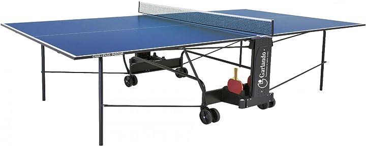 Tavolo da ping pong challenge indoor con ruote per interno blu garlando C-273I