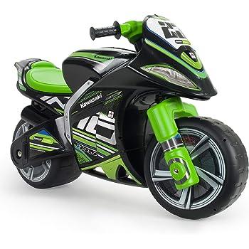 INJUSA - Moto Primi Passi Winner Kawasaki XL Senza Batteria Raccomandato per Bambini +3 Anni con Ruote Larghe e Maniglia per il Trasporto