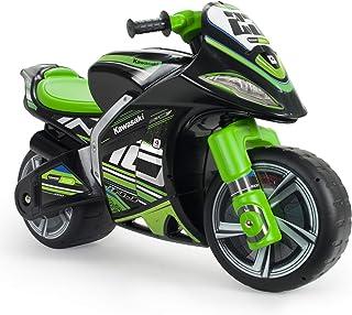 INJUSA - Moto Correpasillos Winner Kawasaki XL No Eléctrico, Color Negro y Verde, con Licencia Oficial de Marca Recomendad...