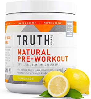Natural PreWorkout Powder- Preworkout for Men & Women - Plant Based, Keto & Vegan Friendly - Energy, Focus ...