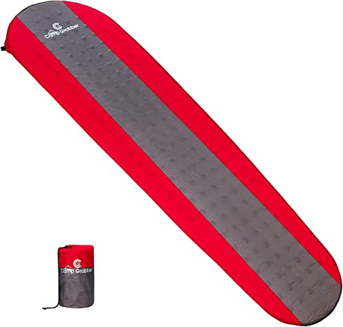 CAMPGRABBER Sleeping pad- self Inflatable and Packable Compact with Lightweight Foam – Thick and Waterproof – Suitable for Outdoor Camping Backpacking Hiking in Mountain Summer or Winter- Tent mat