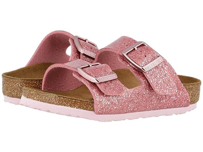 Birkenstock Kids  Arizona (Toddler/Little Kid/Big Kid) (Cosmic Sparkle Old Rose) Girls Shoes