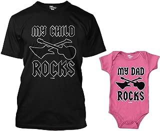 My Child Rocks/My Dad Rocks Matching Bodysuit & Men's T-Shirt