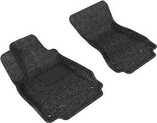3D MAXpider Front Row Custom Fit All-Weather Floor Mat for Select Audi A6/S6/A7 Sedan Models - Classic Carpet (Gray)