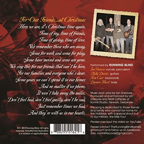 For Our Friends    At Christmas by Running Blind on Amazon Music