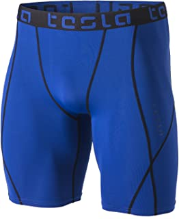 TSLA Men's 1 or 2 Pack Compression Shorts Baselayer Cool Dry Sports Tights