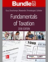 GEN COMBO LOOSELEAF FUNDAMENTALS OF TAXATION 2018; CONNECT ACCESS CARD