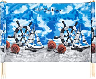 Ships and Shells 20 ft Beach Windscreen, Privacy Screen, Wind Blocker, with Mallet and Carry Bag