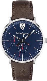 Ferrari Mens Quartz Watch, Chronograph Display and Leather Strap 830566