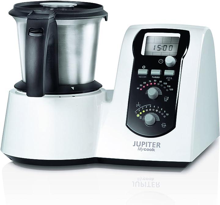 Robot da cucina con ricettario, colore: bianco [classe di efficienza energetica a] jupiter 881100 mycook 1.6