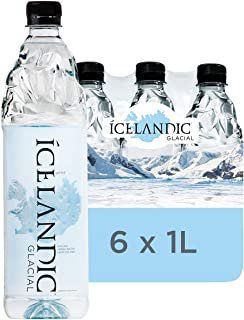 Icelandic Glacial Natural Spring Alkaline Water, 1 Liter (6 Count)
