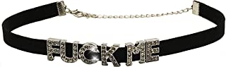 Knaughty Knickers Fuck ME Rhinestone Choker Necklace for DDLG Hotwife Shared Slut who Loves Cock