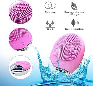 comprar comparacion Limpiador Facial Electrico Silicona, Colourstone 3 en 1 Resistente al Agua Eléctrica Masajeador Facial Exfoliante de Silic...