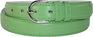 CTM Women's Leather 1 1/8 Inch Dress Belt