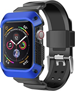 2019 Band Strap Case Compatible with Series 4 Apple Watch(44mm) (Blue)