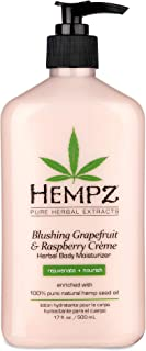 Hempz Blushing Grapefruit & Raspberry Creme Herbal Body Moisturizer Lotion - Fruit Body Cream - Pure Hempseed Oil, Shea Bu...