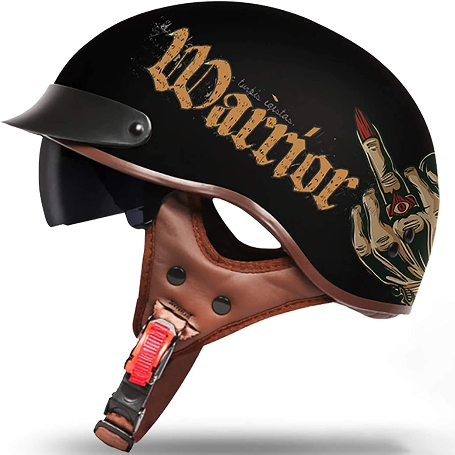 Superior DQ-Walker Half Helmet Motorbike Retro He Animer and price revision Motorcycle