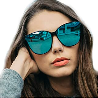 LVIOE Cat Eyes Sunglasses for Women, Polarized Oversized Fashion Vintage Eyewear for Driving Fishing - 100% UV Protection
