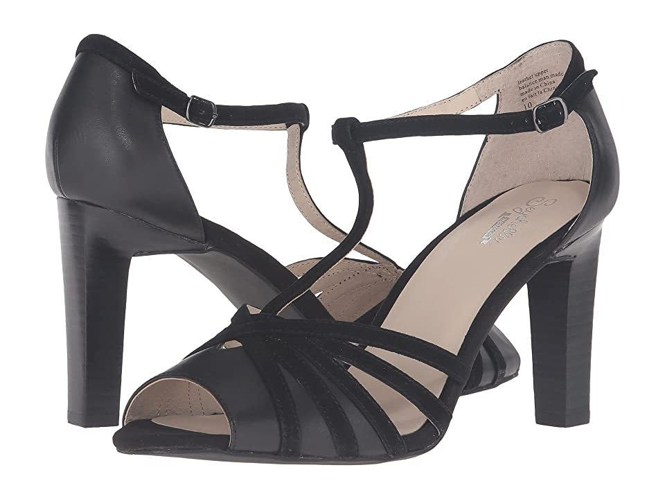 Seychelles Lap (Black Leather/Black Suede) High Heels