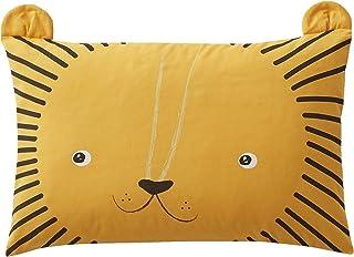 VERTBAUDET Taie d'oreiller bébé Mon petit lion Oeko-Tex® camel 40X60