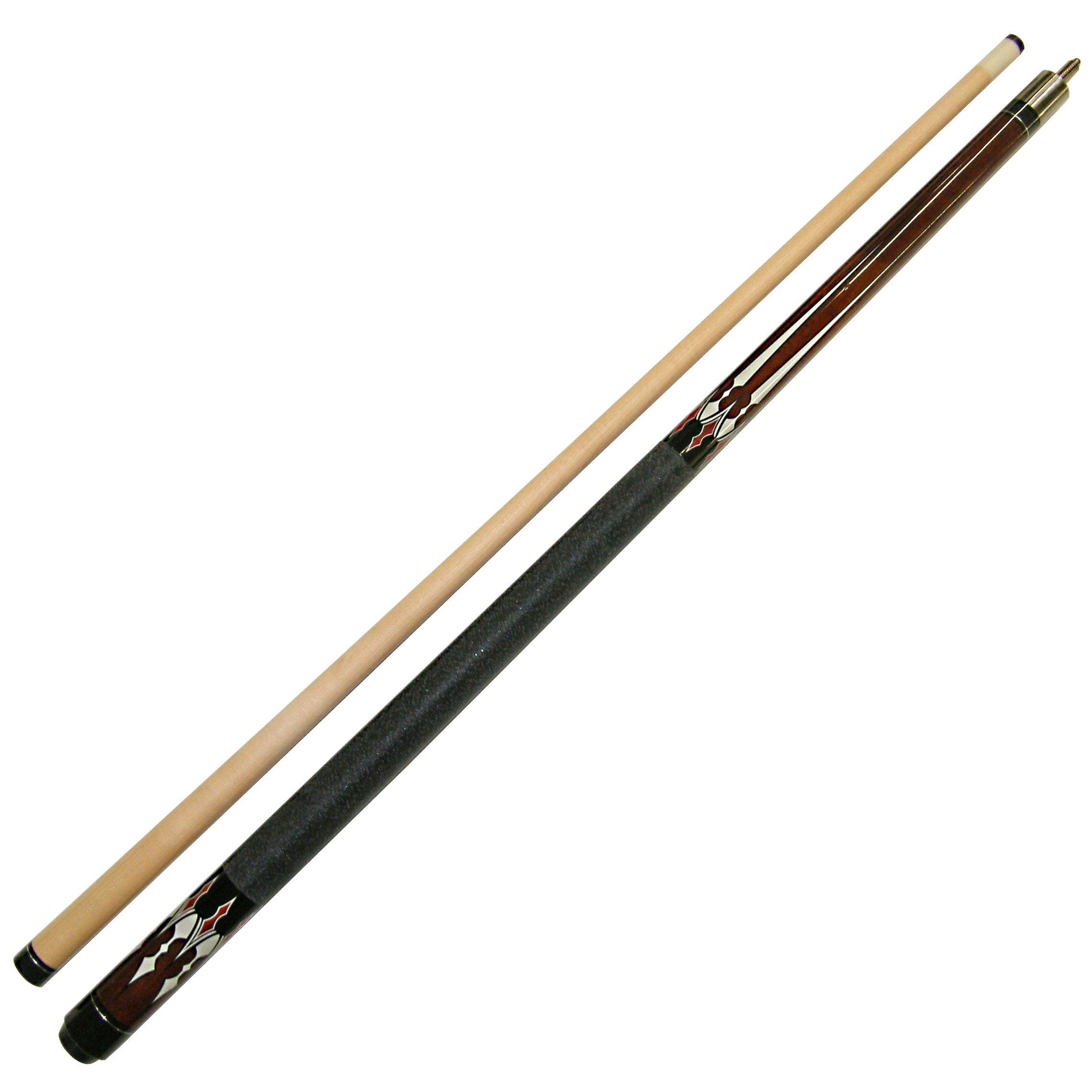 "58/"" Billiard Stick Hardwood Canadian Maple 23 Ounce Red 2 Pce Break Pool Cue"