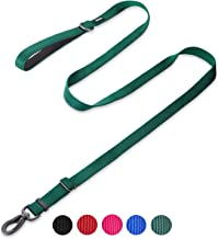 Hyhug Pets Premium Upgraded Adjustable Between 4 Feet and 6 Feet Leash with Sturdy Nylon and Super Soft Neoprene Lined Handle for Medium Large Giant Dogs.