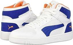 Puma White/Galaxy Blue/Jaffa Orange