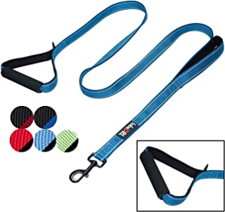 tobeDRI Heavy Duty Dog Leash – 2 Padded Handles, 6 feet Long – Dog Training..