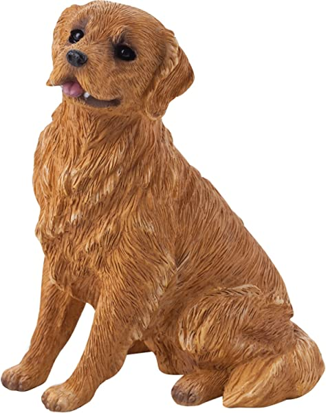 Sandicast Small Size Golden Retriever Sculpture Sitting