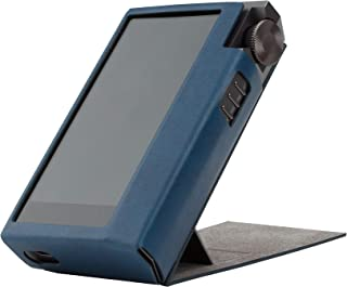 for Astell&Kern KANN Cube, Handmade Miter PU Leather Case Cover [Patented Stand Case] Kann Cube Case (Navy)