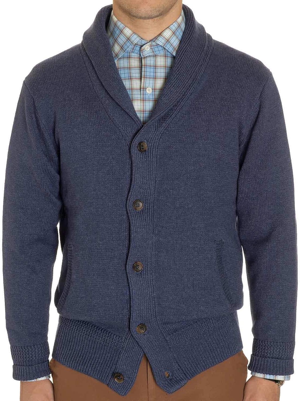 PETER MILLAR Men's Crown Seaside Indigo Shawl Collar Sweater Cardigan