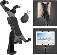 Yoassi Tripod Mount for iPad with Remote,Upgraded Universal Heavy Duty 360°Rotatable Anti-Wobble iPad Tripod Mount Adapter,iPad Holder for Tripod Fit for iPad12345Mini1234Air12Pro9.7 10.5 11 12.9