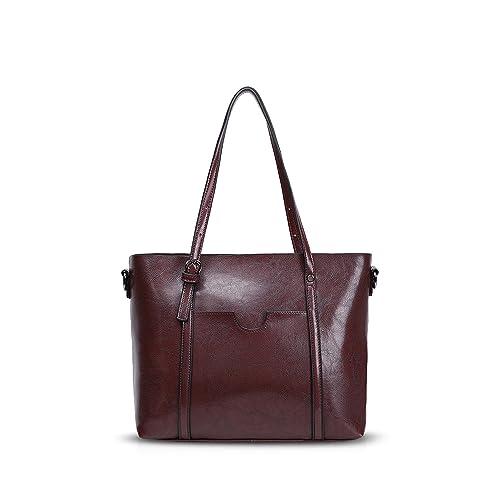 1d4d21779a NICOLE DORIS New Tote Handbag Shoulder Bag Crossbody Bag Women Purse Large  Bag PU Leather Dark Brown