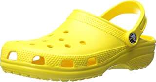 Crocs Classic Clog|Comfortable Slip On Casual Water Shoe, Lemon, 9 M US Women / 7 M US Men