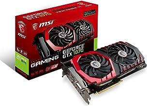 MSI Gaming GeForce GTX 1070 8GB GDDR5 SLI DirectX 12 VR Ready Graphics Card (GeForce GTX 1070 Gaming 8G)